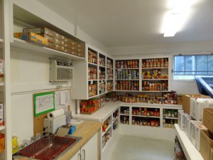 One part of the storage area.